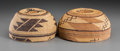 American Indian Art:Baskets, Two Northern California Twined Maiden's Caps... (Total: 2 Items)