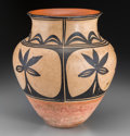 American Indian Art:Pottery, A Santo Domingo Polychrome Jar. Attributed to the Aguilar Family...