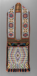 American Indian Art:Beadwork and Quillwork, A Potawatomie Loom-Woven Bandolier Bag...
