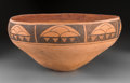 American Indian Art:Pottery, An Isleta Pictorial Dough Bowl...