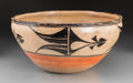 American Indian Art:Pottery, A Santo Domingo Polychrome Dough Bowl...