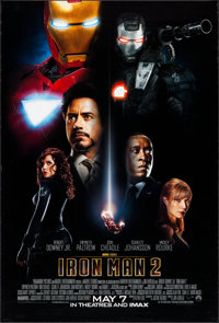"Iron Man 2 (Paramount, 2010). One Sheet (27"" X 40"") DS Advance. Science Fiction"