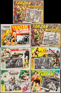 "Movie Posters:Adventure, Tarzan the Ape Man & Others Lot (MGM, 1959). Mexican LobbyCards (7) (16.75"" X 12.5"", 16.75"" X 13""). Adventure.. ... (Total: 7Items)"