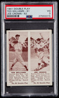 Baseball Cards:Singles (1940-1949), 1941 Double Play Ted Williams/Joe Cronin #81/82 PSA VG 3....