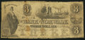 Obsoletes By State:Ohio, Norwalk, OH- Bank of Norwalk Counterfeit $3 Nov. 20, 1844. ...