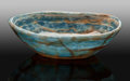 Lapidary Art:Carvings, Blue Calcite Bowl. Andes Mountains. Argentina. South America. ...