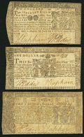 Colonial Notes:Maryland, Maryland April 10, 1774 $2/3 Very Good-Fine;. Maryland April 10, 1774 $1 Fine-Very Fine;. Maryland April 10, 1774 $2 Fine-Very... (Total: 3 notes)