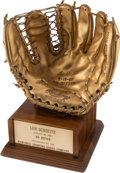 """Baseball Collectibles:Balls, 1960 Lew Burdette Rawlings """"No-Hitter"""" Gold Glove with Family Provenance...."""