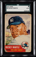Baseball Cards:Singles (1950-1959), 1953 Topps Mickey Mantle #82 SGC Authentic....