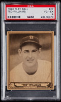 Baseball Cards:Singles (1940-1949), 1940 Play Ball Ted Williams #27 PSA VG-EX 4....