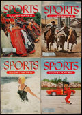 Miscellaneous Collectibles:General, 1954 Sports Illustrated Early Issues (Lot of 4)....