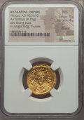 Ancients:Byzantine, Ancients: Phocas (AD 602-610). AV solidus (4.35 gm). NGC MS 5/5 -4/5, clipped....
