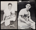 Autographs:Post Cards, Nelson Fox Signed Postcards Lot of Two....