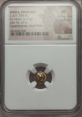 Ancients:Greek, Ancients: IONIA. Phocaea. Ca. 477-388 BC. EL sixth stater or hecte(2.57 gm). NGC XF 4/5 - 5/5....