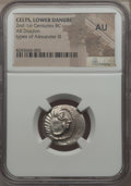 Ancients:Celtic, Ancients: DANUBE REGION. Balkan Tribes. Imitating Alexander III theGreat (336-323 BC). Ca. 2nd-1st centuries BC. AR drachm. NGC AU....