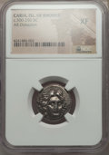 Ancients:Greek, Ancients: CARIAN ISLANDS. Rhodes. Ca. 305-275 BC. ARdidrachm. NGC XF....