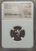 Ancients:Greek, Ancients: CARIAN ISLANDS. Rhodes. Ca. 340-316 BC. ARdidrachm. NGC Choice VF.  ...