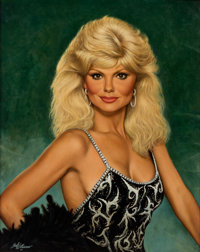 A Loni Anderson Oil Painting by Fred Williams, 1985