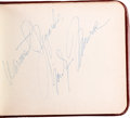 Movie/TV Memorabilia:Autographs and Signed Items, A Marilyn Monroe (and Others) Signed Autograph Book Page, 1956....