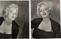 Movie/TV Memorabilia:Photos, A Marilyn Monroe Pair of Rare Black and White Photographs by JeanHoward, Circa 1952....