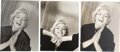 Movie/TV Memorabilia:Photos, A Marilyn Monroe Group of Rare Black and White Photographs by JeanHoward, Circa 1952....
