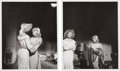 Movie/TV Memorabilia:Photos, A Marilyn Monroe Pair of Rare Black and White Photographs by JeanHoward, 1953....