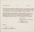 Movie/TV Memorabilia:Autographs and Signed Items, A Marilyn Monroe Signed Document, 1952....