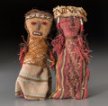 Pre-Columbian:Textiles, Two Chancay Cloth Figures... (Total: 2 Items)