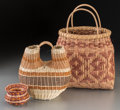 American Indian Art:Baskets, Three Cherokee Basketry Items... (Total: 3 Items)