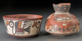 Ceramics & Porcelain:Pre-Columbian, Two Nazca Vessels... (Total: 2 Items)
