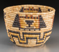 American Indian Art:Baskets, A Hopi Polychrome Coiled Basket...