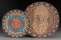 American Indian Art:Baskets, Two Contemporary Hopi Twined Wicker Plaques... (Total: 2 Items)