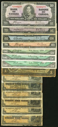 Canadian Currency: , Earlier Canadian Notes Including Six Fractionals.. ... (Total: 14notes)