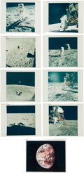 "Explorers:Space Exploration, Apollo 11: Collection of Eight Original NASA ""Red Number"" LunarColor Photos (plus One ""Blue Number""). ..."
