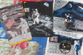 Explorers:Space Exploration, Apollo 11: Group of Four Textile Display Items. ... (Total: 4Items)