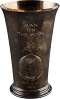 Explorers:Space Exploration, Apollo 11 Sterling Silver Limited Edition Beaker, #144, by Prestonsof the U.K., 9.1 Troy Ounces. ...