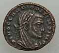 Ancients:Ancient Lots  , Ancients: GROUP LOTS. Roman Imperial. Lot of two (2) AE halffolles. VF.... (Total: 2 coins)