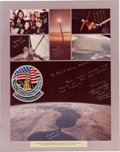 Autographs:Celebrities, Space Shuttle Challenger (STS-41-G) Flown Patch on JohnMcBride Signed and Annotated Large Color Presentation Mont...