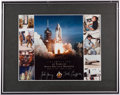 Autographs:Celebrities, Space Shuttle Columbia (STS-1) Crew-Signed 25th AnniversaryLimited Edition Color Print, #30/50, in Framed Display...