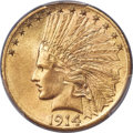 Indian Eagles, 1914-S $10 MS63 PCGS....