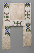Textiles, A Sioux Beaded Hide Saddle Blanket. ...