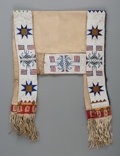 American Indian Art:Beadwork and Quillwork, A Sioux Pictorial Beaded Hide Saddle Blanket. ...