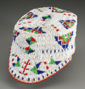 American Indian Art:Beadwork and Quillwork, A Sioux Boy's Beaded Hide Cap...