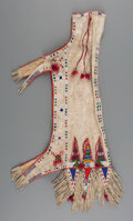 American Indian Art:Beadwork and Quillwork, A Sioux Beaded Hide Bag...