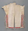 American Indian Art:Beadwork and Quillwork, A Pair of Southern Cheyenne Woman's Beaded Hide Leggings... (Total:2 Items)