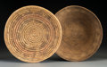 American Indian Art:Baskets, Two Navajo Coiled Wedding Trays... (Total: 2 Items)