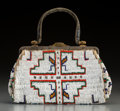 American Indian Art:Beadwork and Quillwork, A Sioux Beaded Hide Purse...
