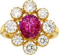 Estate Jewelry:Rings, Burma Pink Sapphire, Diamond, Gold Ring The ri...