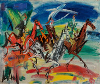 Gen Paul (1895-1975) Riders Oil on canvas 23-1/2 x 29 inches (59.7 x 73.7 cm) Signed lower lef