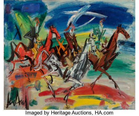 Gen Paul (1895-1975) Riders Oil on canvas 23-1/2 x 29 inches (59.7 x 73.7 cm) Signed lower left: Gen Paul ...